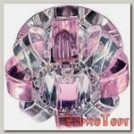 Светильник Эра декор корона G9,40W,220V, JCD хром/прозрачный/розовый