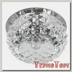 Светильник Эра декор хруст. плафон ёжик G9,220V, 40W, хром/прозрачный