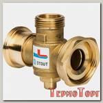 Клапан смесительный Stout термостатический G 11/2M-G 11/2F-G 1M 70С, SVM-0050-327008