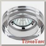 Светильник Эра декор кругл толст.стекло MR16,12V/220V, 50W, хром/зеркальный