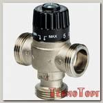 Клапан смесительный Stout термостатический для систем отопления и ГВС 1 НР 30-65С KV 1,8, центральное смешивание, SVM-0