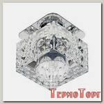 Светильник Эра декор хрусталь куб с объемным рисунком G9,220V, 50W, хром/прозрачный