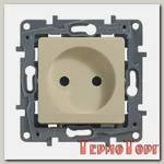 Розетка Legrand ETIKA без заземления крем механизм