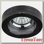 Светильник Эра декор кругл толст.стекло MR16,12V/220V, 50W, хром/черный