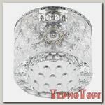 Светильник Эра декор цилиндр. плафон с объемным рисунком G9,220V, 50W, хром/прозрачный