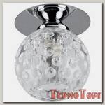 Светильник Эра декор круглый плафон с объемным рисунком G9,220V, 50W, хром/прозрачный