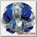 Светильник Эра декор корона G9,40W,220V, JCD хром/прозрачный/синий