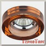 Светильник Эра декор кругл толст.стекло MR16,12V/220V, 50W, хром/коричневый