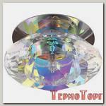 Светильник Эра декор хрустальный плафон G9,220V, 40W, хром/перламутр