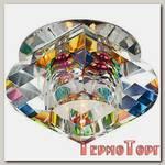 Светильник Эра декор хрустальный пирамидальный G9,220V, 40W, хром/перламутр